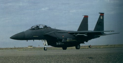 The first Eagle destined for a combat squadron was delivered January 1976.
